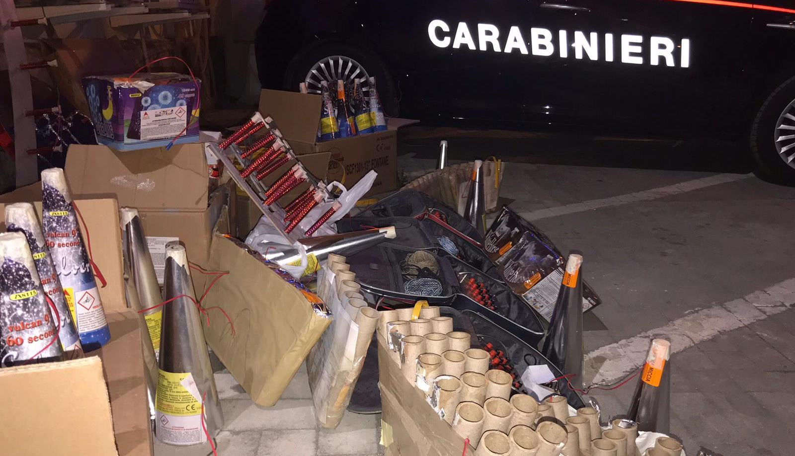 Reggio, oltre una tonnellata di materiale pirotecnico sequestrato