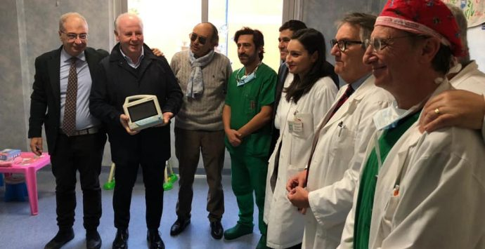 La Medicoop S. Agata dona alla chirurgia pediatrica un monitor multiparametrico e non solo