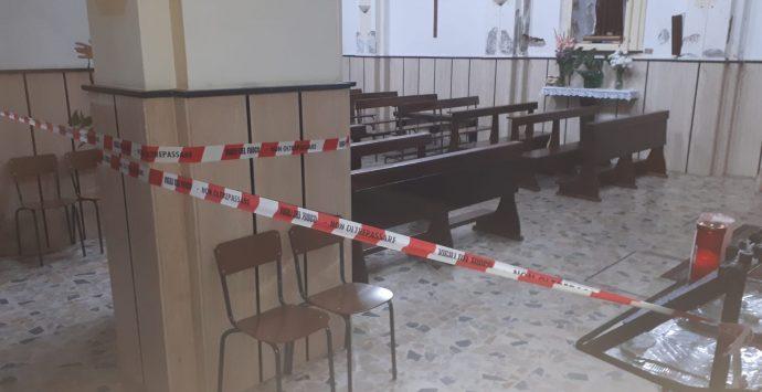 Maltempo, chiesa inagibile a Careri. La Diocesi dispone la chiusura