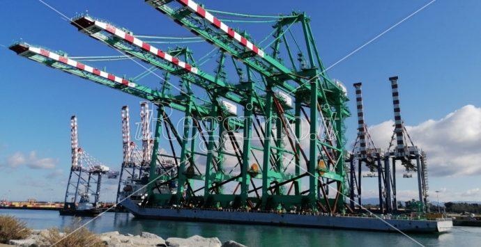 Porto di Gioia Tauro, sono arrivate le nuove gru della società Mct-Til