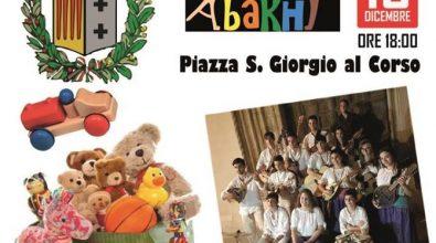 Piazza S. Giorgio al corso: musica e giocattoli per i bimbi meno fortunati