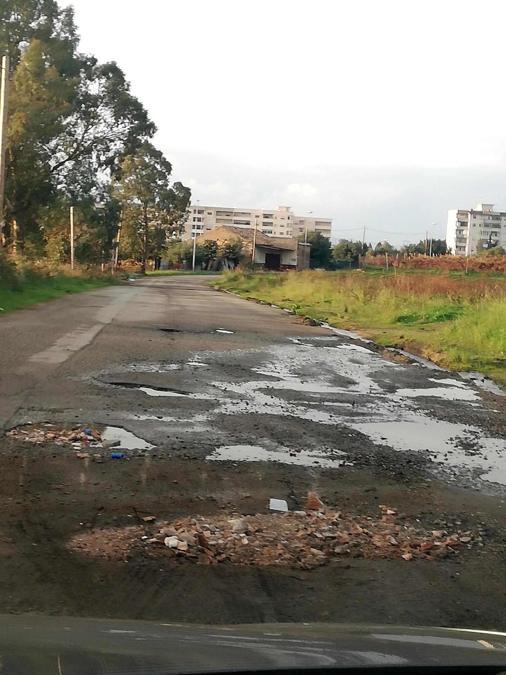 Arghillà, l'allarme dei residenti: «La strada del parco in condizioni imbarazzanti»