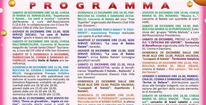 Villa, Natale 2019 ricco di appuntamenti e iniziative benefiche. Ecco il calendario