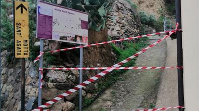 Motta Sant'Agata, bloccato il sentiero che porta alla rupe di Suso da San Salvatore