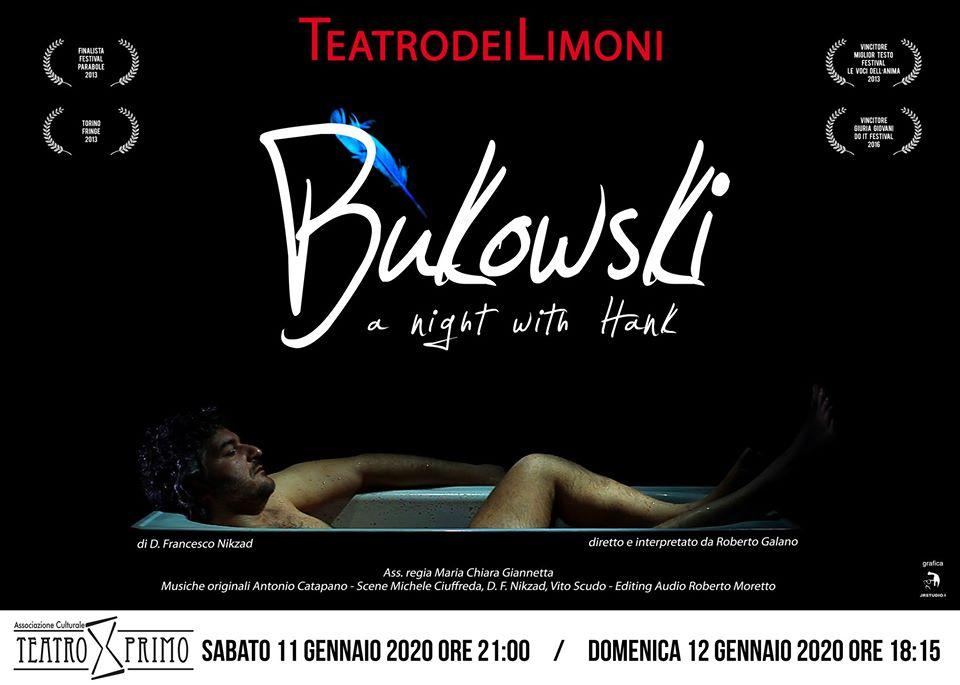A Teatro Primo, una notte con Bukowski