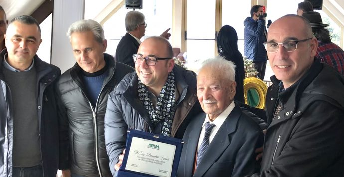 Atam festeggia i 100 anni di Demetrio Spanò, l'abbonato più longevo