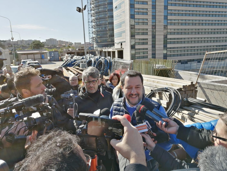 Salvini sul palazzo di Giustizia: «Quindici anni troppi per finire i lavori. I responsabili pagheranno»