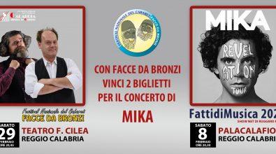 """Con """"Facce da bronzi"""" in palio due biglietti per il concerto di Mika"""