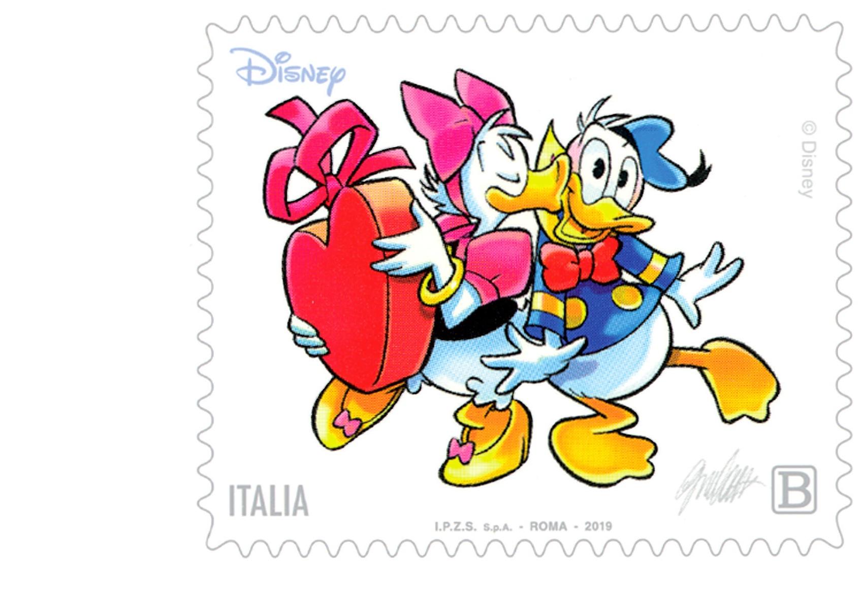 Poste Italiane festeggia San Valentino con i personaggi Disney