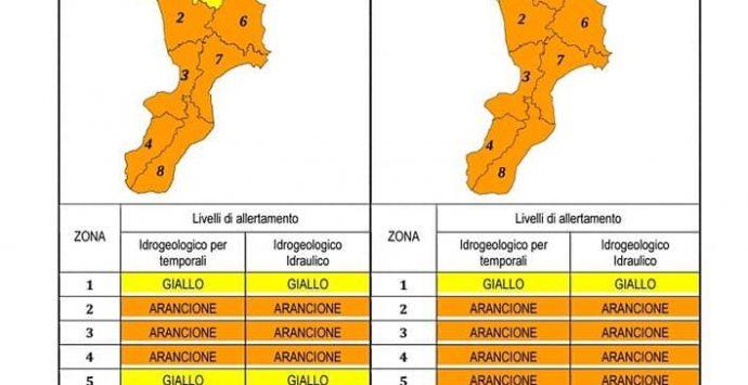 Maltempo, a Reggio Calabria allerta arancione fino a domani sera. Piogge intense