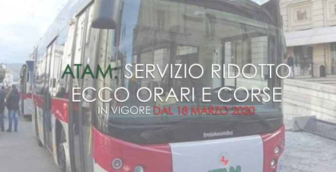 Coronavirus a Reggio Calabria, ridotto il servizio Atam. ECCO ORARI E CORSE