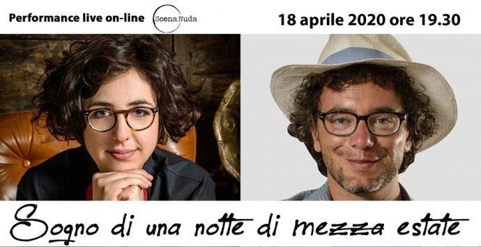 Coronavirus a Reggio Calabria, Scena Nuda propone online la performance su Shakespeare di Cesare Catà