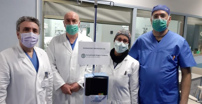 Coronavirus a Reggio Calabria, l'associazione mondiale Soroptimist dona al Gom strumenti importanti