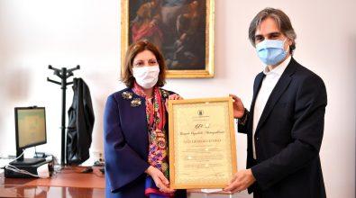Reggio Calabria, il San Giorgio d'oro consegnato al Gom e ai familiari di Nino Candido