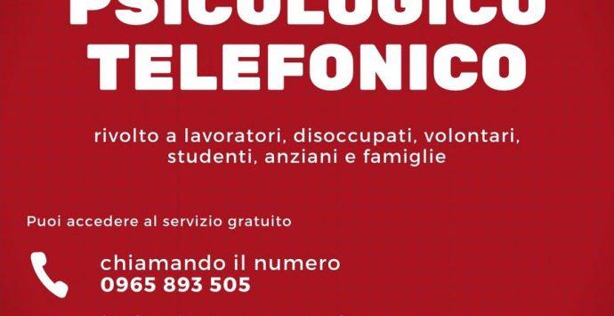 Coronavirus a Reggio Calabria, supporto psicologico telefonico della Camera del Lavoro e del Silp Cgil