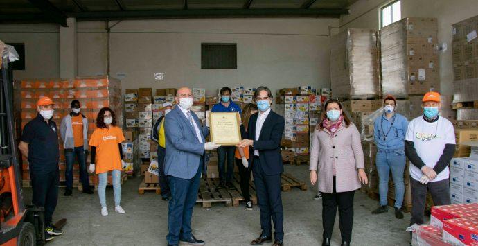 Coronavirus a Reggio Calabria, la donazione del Convitto Campanella al Banco alimentare
