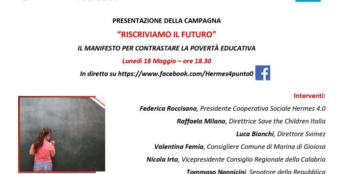 Cooperativa sociale Hermes 4.0, lunedì la presentazione del Manifesto di Save the children