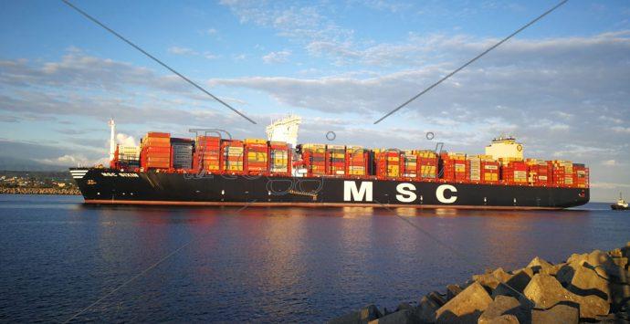 Al Porto di Gioia Tauro arriva Msc Sixin, una delle più grandi portacontainer del mondo