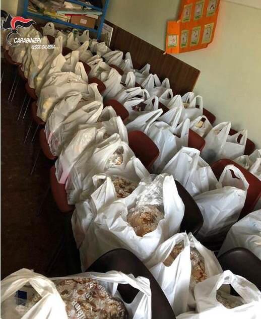 Coronavirus a Reggio Calabria, i carabinieri donano generi alimentari alle famiglie disagiate