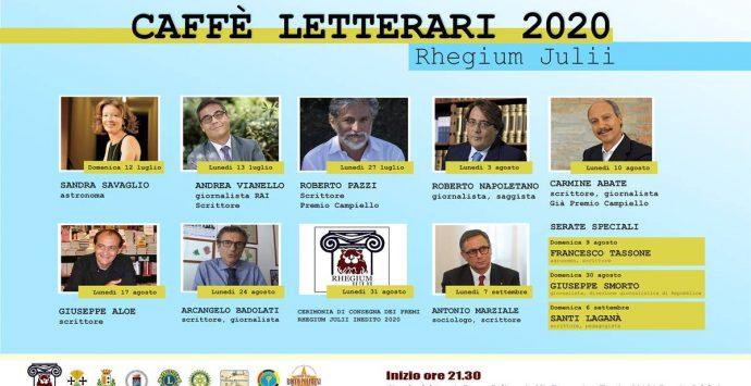Circolo Rhegium Julli, lunedì la presentazione dei Caffè letterari per l'estate 2020