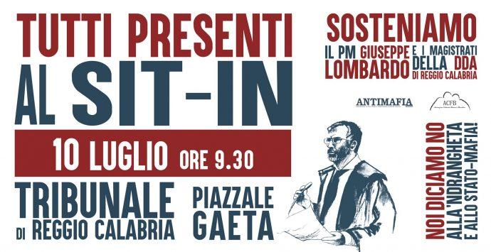 Solidarietà al pm Lombardo, anche Ethos in piazza il 10 luglio