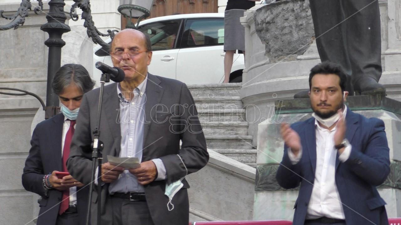Elezioni Reggio Calabria, Bersani: «Dall'UE molti soldi per Sud, Falcomatà una garanzia»