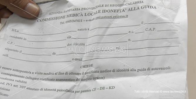 Asp Reggio, non c'è il presidente della commissione medica e la patente diventa un miraggio