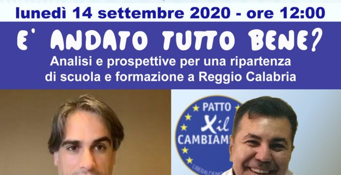 Elezioni Reggio Calabria, incontro pubblico su scuola e formazione con Falcomatà e Nordo