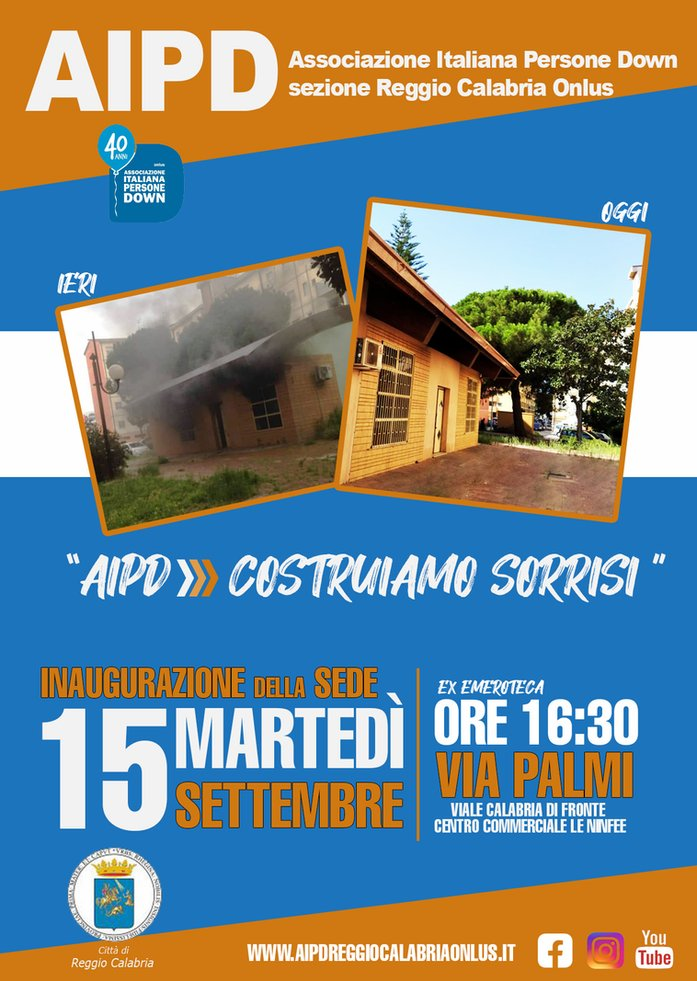 Reggio Calabria, domani l'inaugurazione della sede dell'Associazione italiana persone down