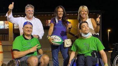 Sport e solidarietà, Giusy Versace dona sedie sportive da rugby alla squadra di Vicenza