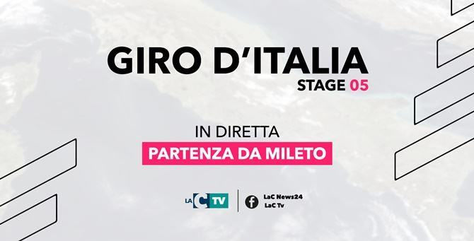 Giro d'Italia, tutto pronto per la partenza da Mileto: la diretta sui social LaC