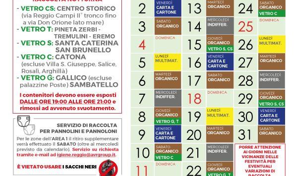 Reggio, raccolta differenziata. Nuovo calendario per il mese di ottobre