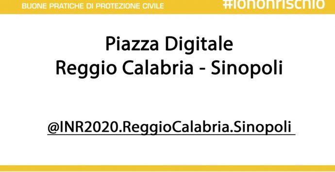 """Reggio Calabria, """"Io non rischio 2020"""": edizione digitale per campagna delle buone pratiche di protezione civile"""