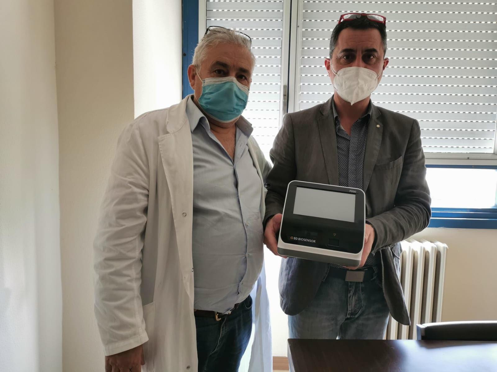Ospedale di Locri, consegnati gli strumenti per i test rapidi