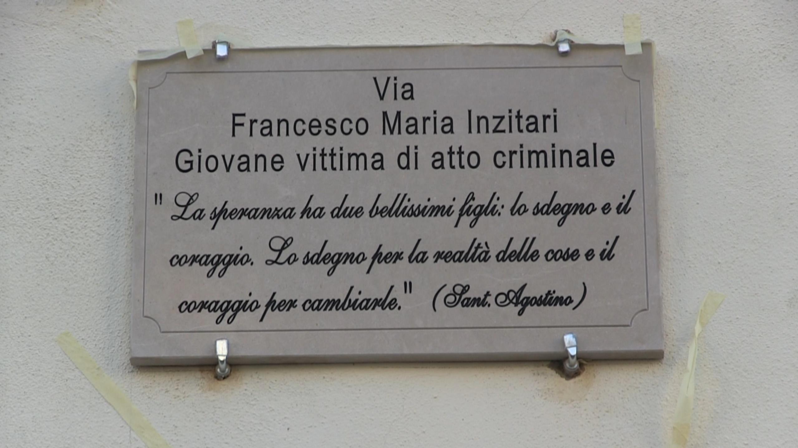 Rizziconi, una strada intitolata a Francesco Inzitari