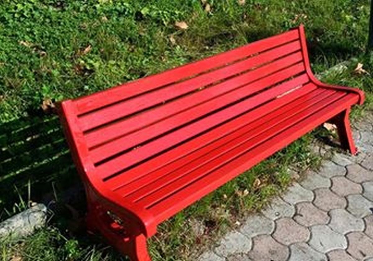 Cittanova, una panchina rossa: simbolo e monito contro la violenza di genere