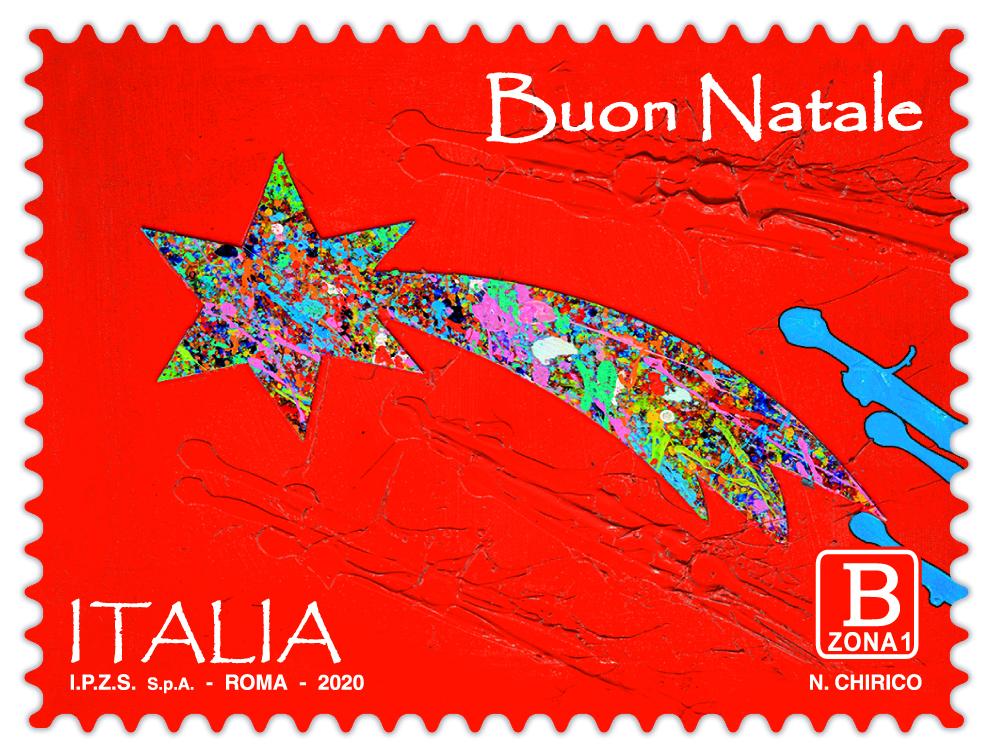 Poste Italiane, un'opera di Chirico sui francobolli dedicati al Natale