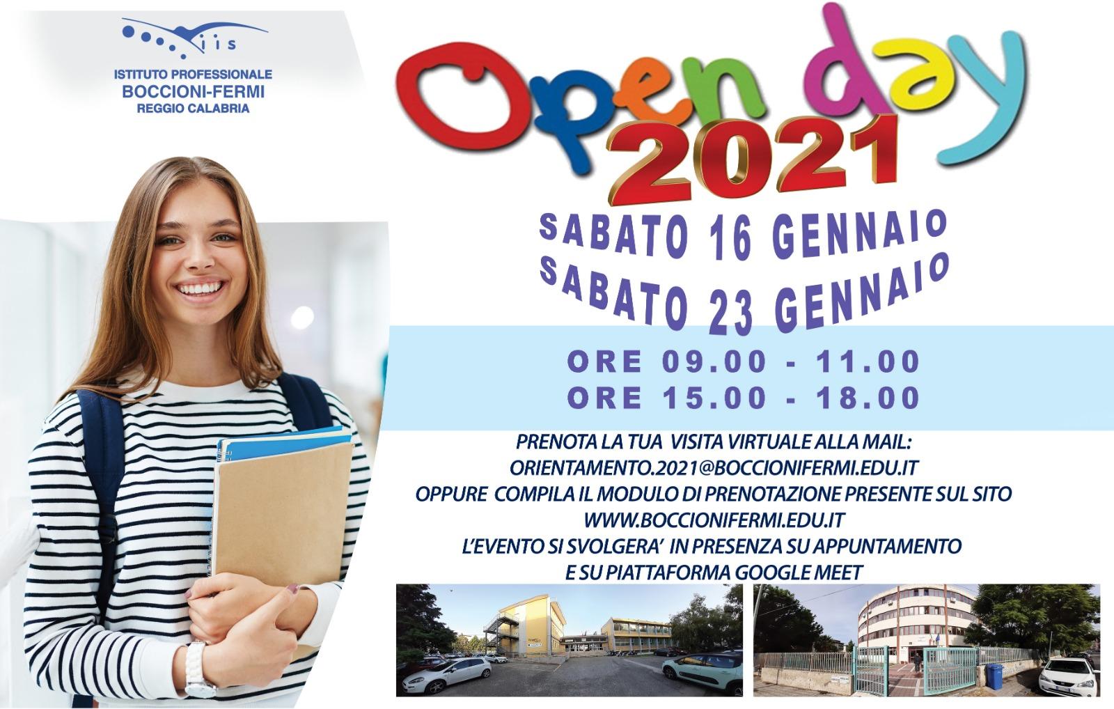Open day virtuale per il Boccioni – Fermi di Reggio Calabria