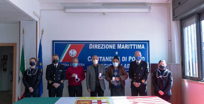 Guardia Costiera, consegnate le medaglie d'onore