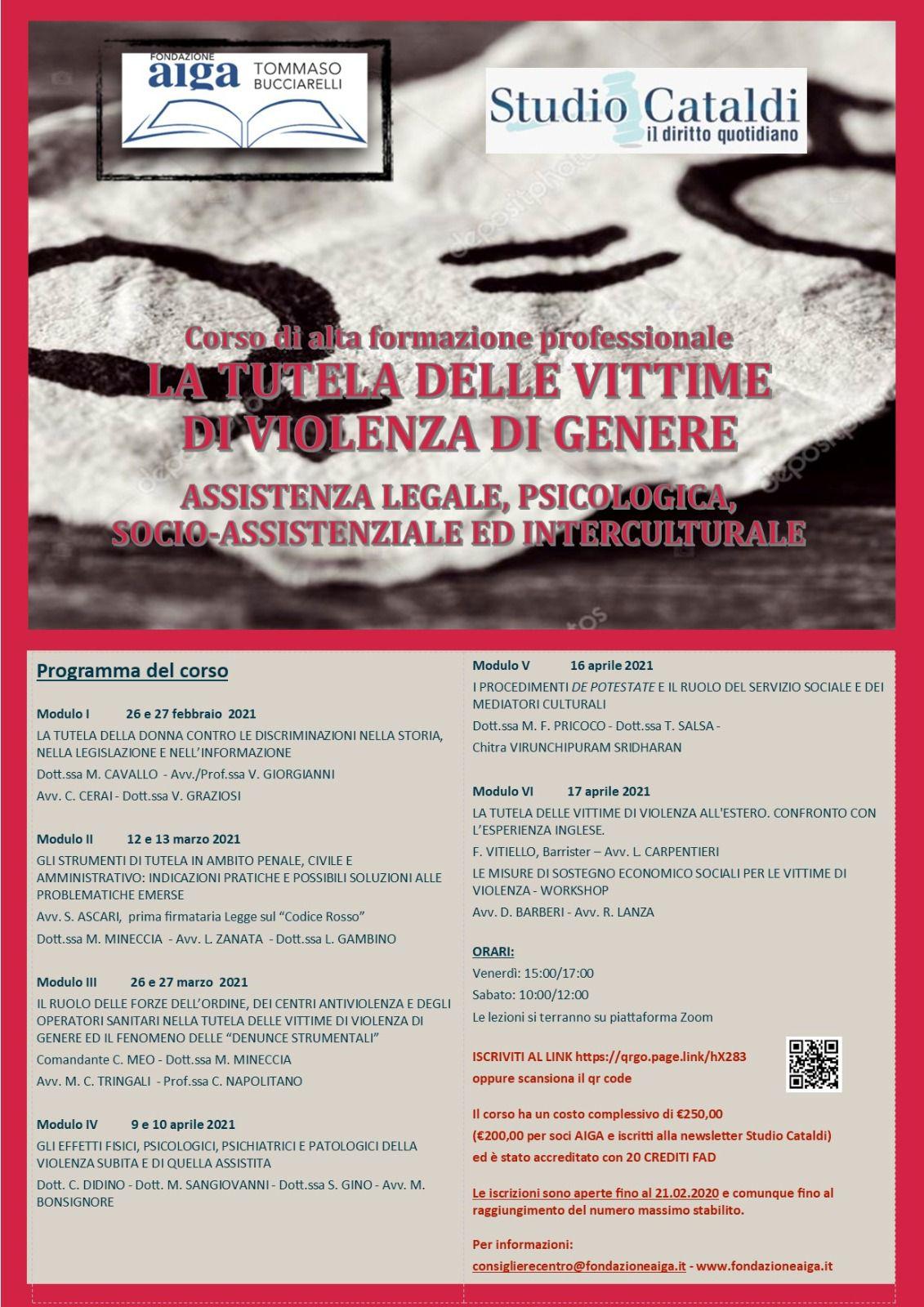 Vittime della violenza di genere, al via il corso di formazione della Fondazione Bucciarelli