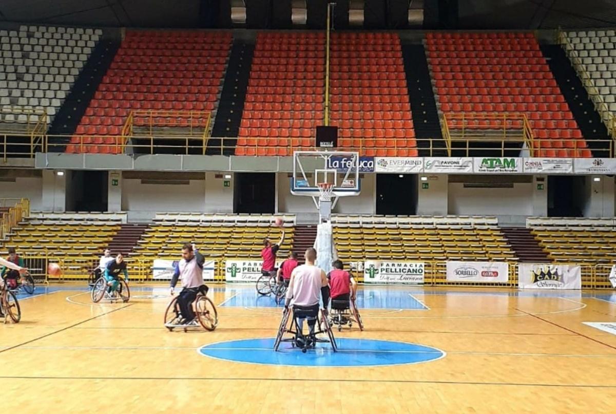 Sconfitta onorevole in Lombardia per la Reggio Basket in carrozzina