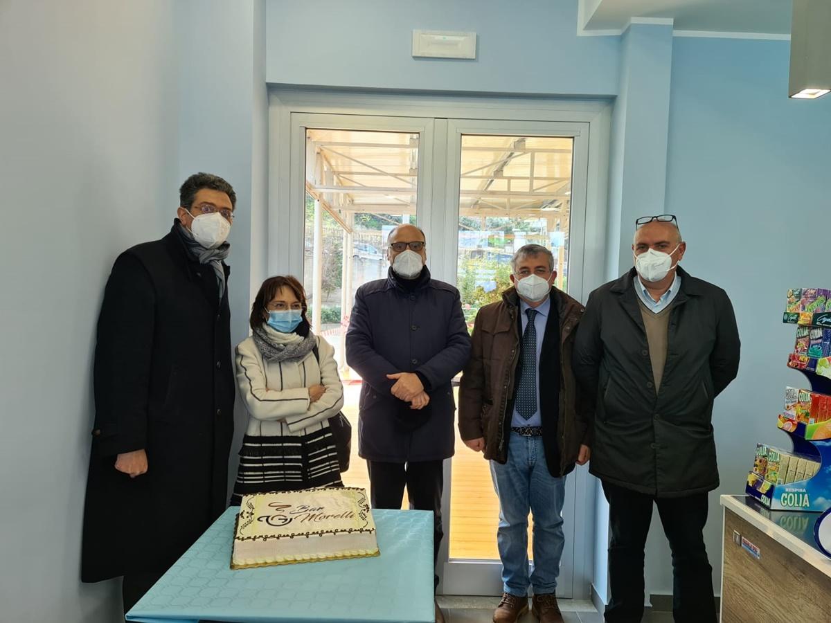 """Inaugurato ieri il bar del presidio ospedaliero """"E. Morelli"""" di Viale Europa"""