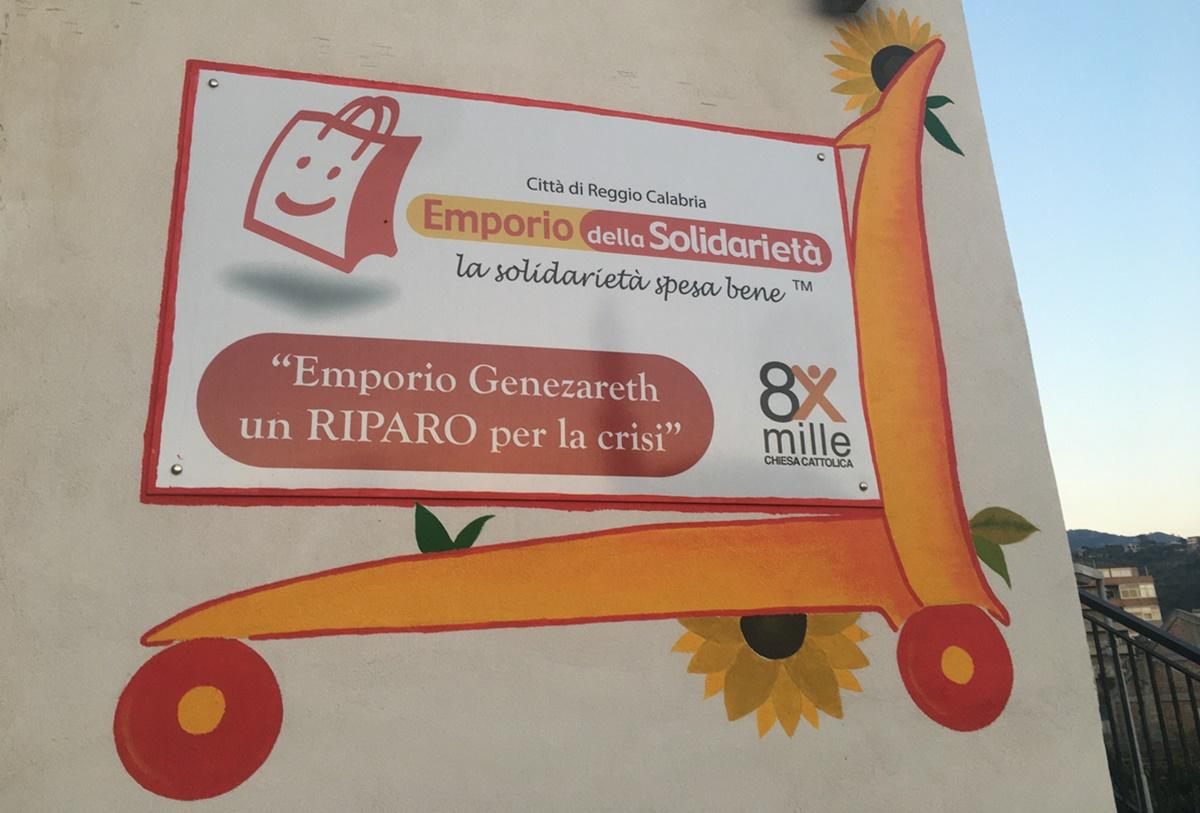 Reggio Calabria, l'emporio Genezareth di Cannavò e la solidarietà che nutre corpo e anima