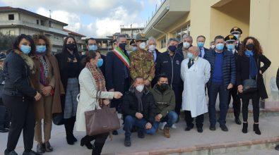 Taurianova, il generale Figliuolo in visita al Centro vaccinale di Largo Bizzurro