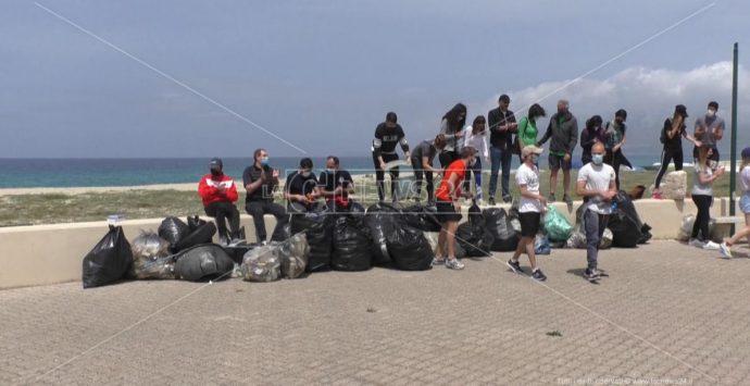 San Ferdinando, i volontari puliscono la spiaggia dunale: «Patrimonio da tutelare»