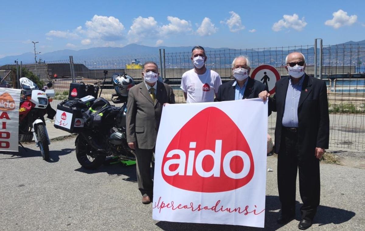 """""""Aido by motorbike"""" fa tappa a Villa San Giovanni e a Reggio Calabria"""