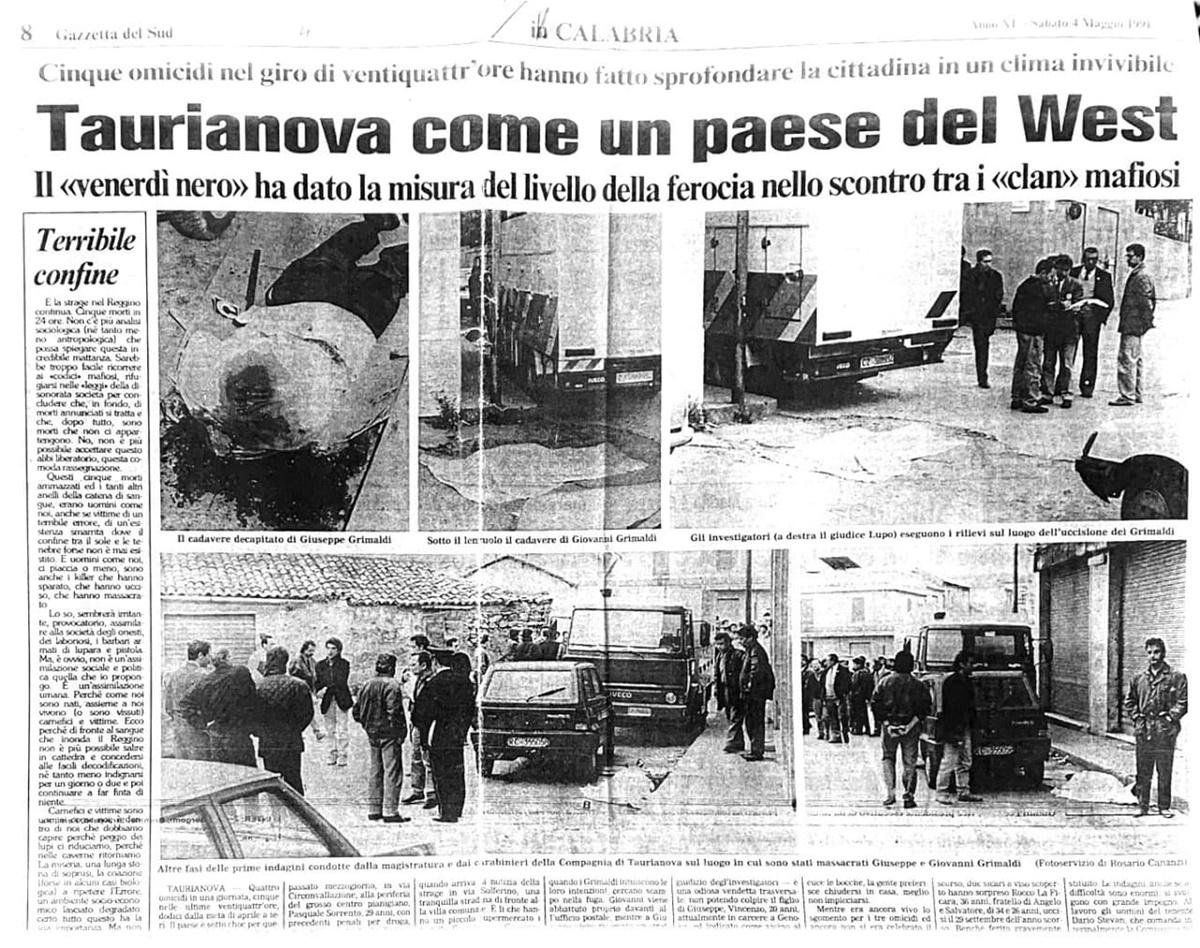 """Il """"Venerdì nero"""" di Taurianova. Storia di una faida terribile"""
