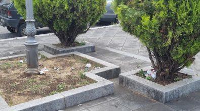 Molochio, i bagordi notturni trasformano la piazza dei Caduti in una discarica