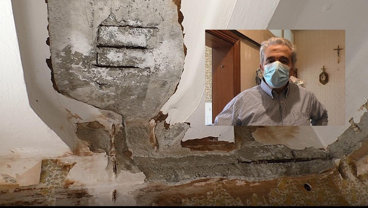 La casa assegnata va in pezzi, il signor Sgarlato ancora costretto a vivere in comunità