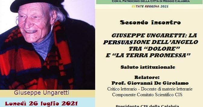 Reggio, il centro internazionale scrittori dedica un incontro a Ungaretti